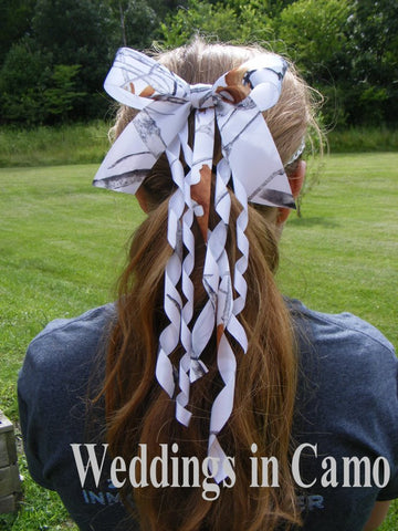 Hair bow CAMO RIBBON your choice of color