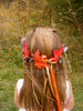 Flower Girl Camo and Leaf Wreath Rustic Wedding