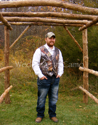 MENS CAMO Vest ALL COLORS Custom Made