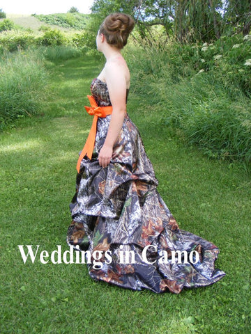 CAMO wedding dress with PICKUPS+CORSET option