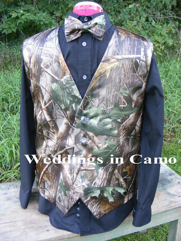 CAMO wedding vest+MENS CAMO Vest+Custom Made