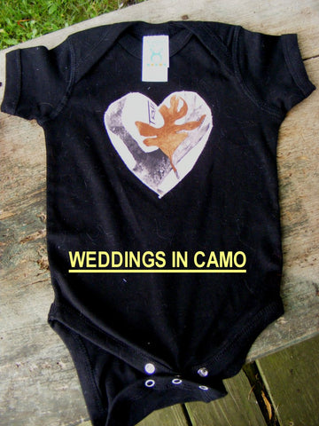CAMO T-SHIRT Baby and Toddler T-shirt with Heart Applique
