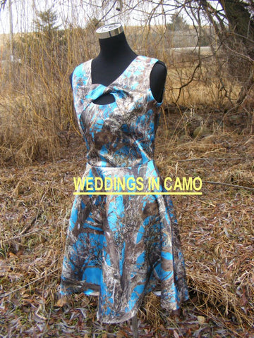 SHORT CAMO dress+Bridesmaid Sleeveless SIZES 2 to 16