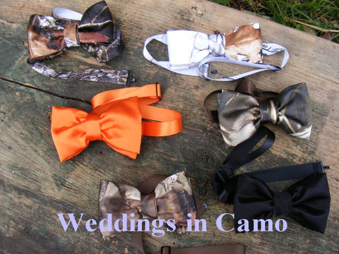 CAMO BOWTIES+Camo bow ties+ Mens camo ties+boys camo ties