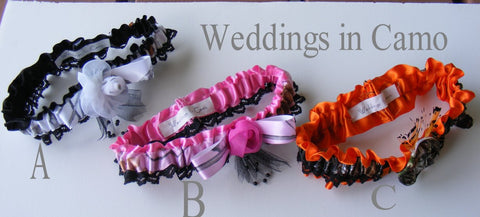CAMO GARTERS You choose color Camo Weddings