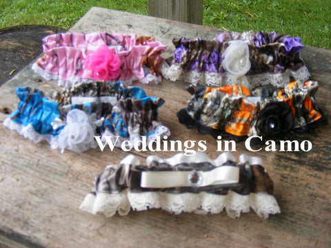 CAMO GARTERS  In COLORS You choose color Camo Weddings
