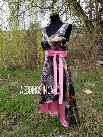 CAMO Bridesmaid dress with color accents
