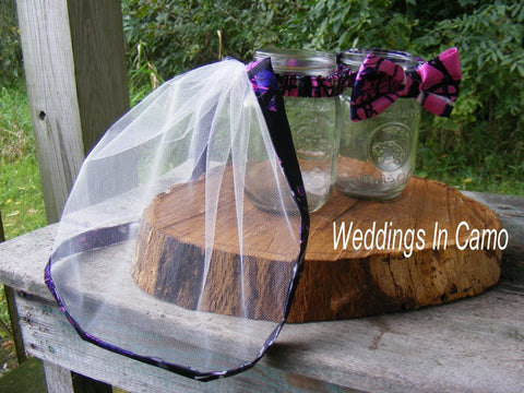 CAMO DECORATIONS for your reception+Mr and Mrs mason jars
