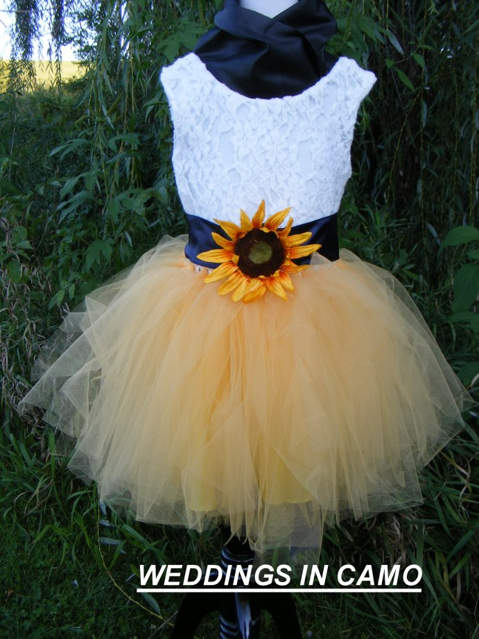 SUNFLOWER Girls dress for your Wedding day