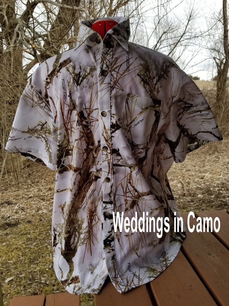 CAMO SHORT SLEEVED Mens Cotton CAMO Shirt+Country Wedding