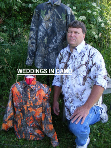 CAMO SHIRT Mens Cotton CAMO Shirt+Country Wedding