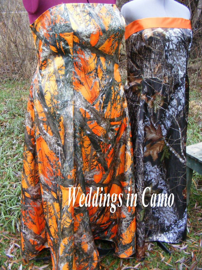 CAMO+PLUS Size long formal dress with banded top+CORSET back