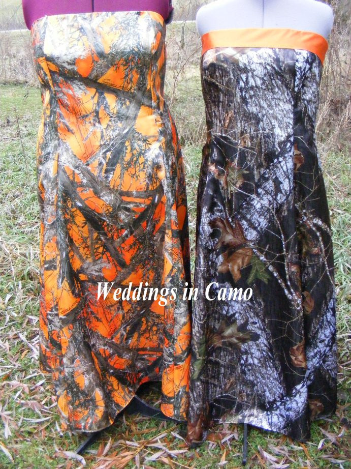 CAMO+LONG formal dress with banded top+CORSET back