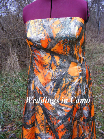 CAMO+SHORT formal dress with banded top+CORSET back