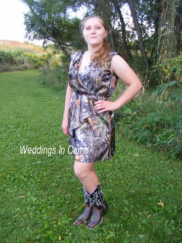 SHORT CAMO Bridesmaid+short camo dress+Style SIZES 2 to 20