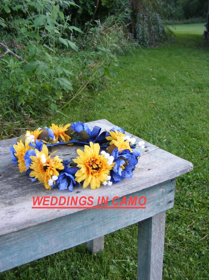 SUNFLOWER Wreath Flower Girl Headpiece