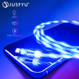 Magnetic Cable USB with LED Lights