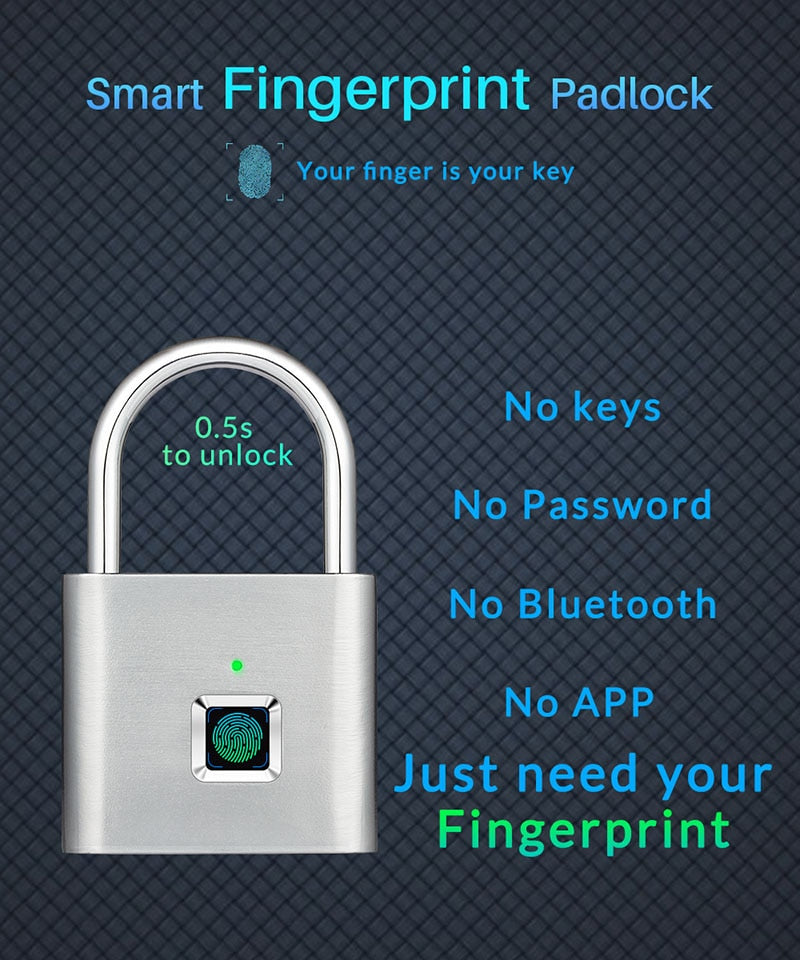 Fingerprint Smart Lock Padlock