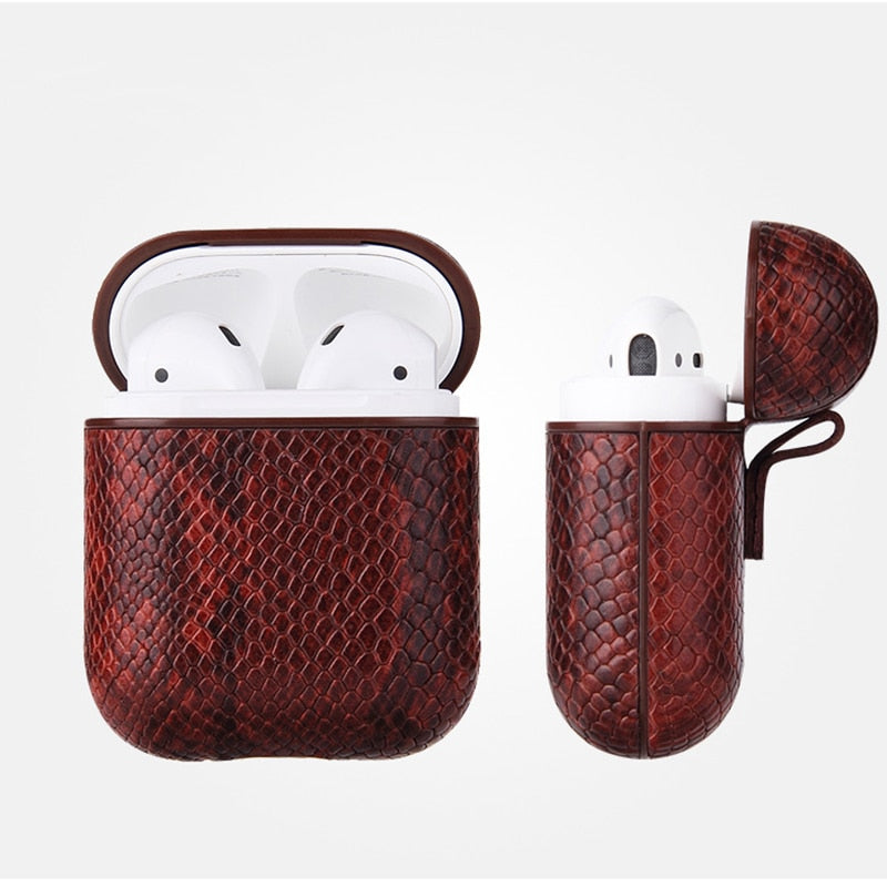 Red Snake Skin AirPod Case