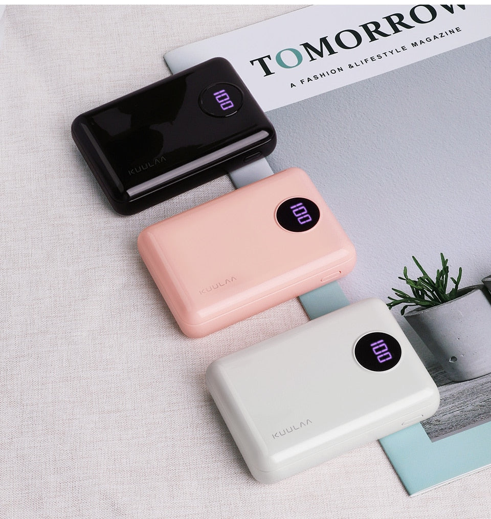 Portable Fast Charging PowerBank With Dual USB Plug Ins