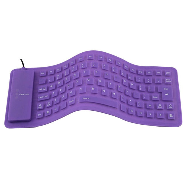 Mini Flexible Silicone Folding Wired Keyboard
