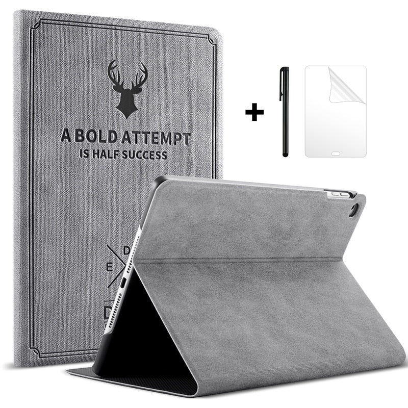 Leather Case For iPad Air With Magnetic Stand