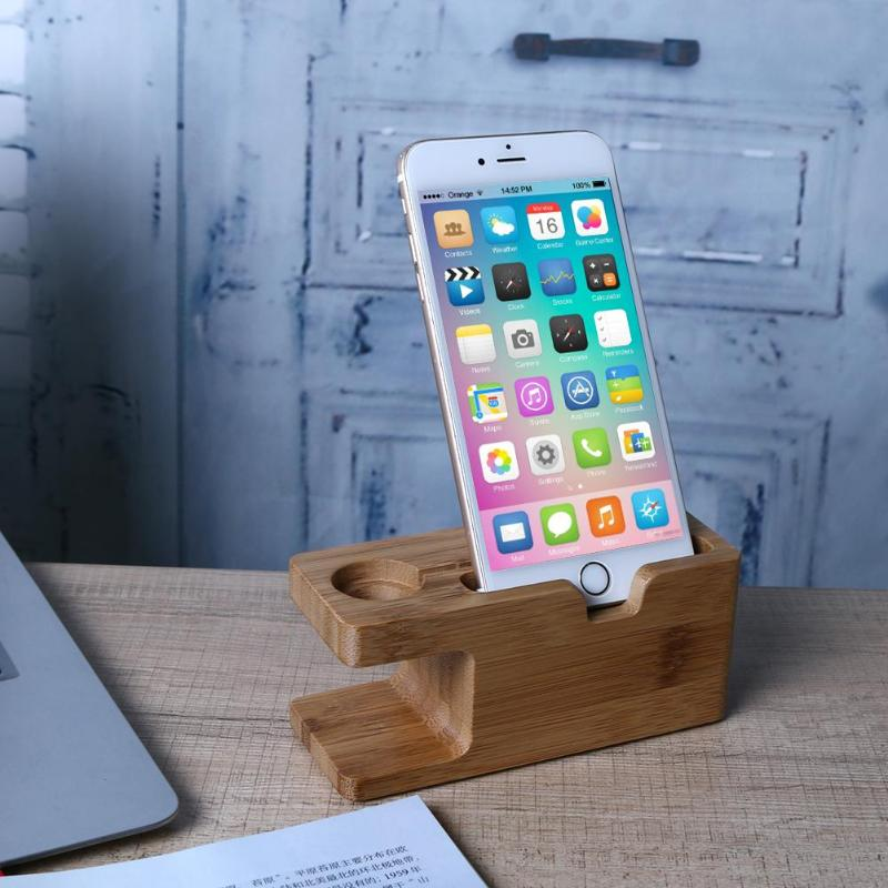Wooden Charging Dock Station for Mobile Phone & Smart Watch