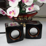 Mini Portable Plastic Wired USB Audio Square Music Player Speaker For iPhone For iPad MP3 MP4 Laptop PC Computer