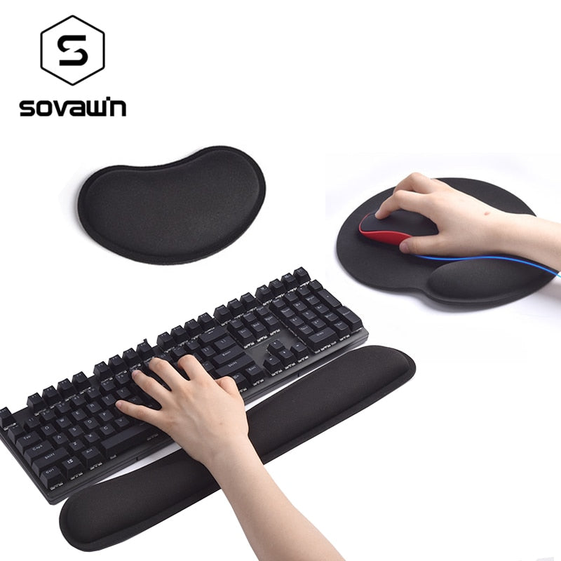 Comfortable Memory Foam Set For Keyboard And Mouse
