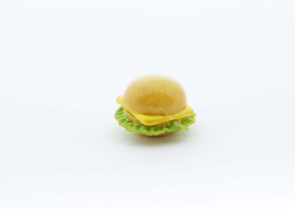 cheeseburger miniature fimo - décoration gourmande pate fimo - LaMercerieDesCopines