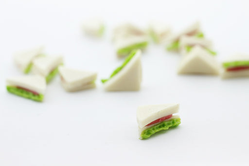 club sandwich miniature fimo - décoration gourmande pate fimo - LaMercerieDesCopines