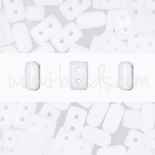 Ios par Puca 5.5x2.5mm opaque white (10g) - LaMercerieDesCopines