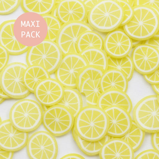 tranches cane fimo x120 citron - MAXI PACK tranches cane fimo - LaMercerieDesCopines