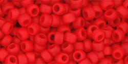 cc45af - perles de rocaille Toho 8/0 opaque frosted cherry (10g) - LaMercerieDesCopines
