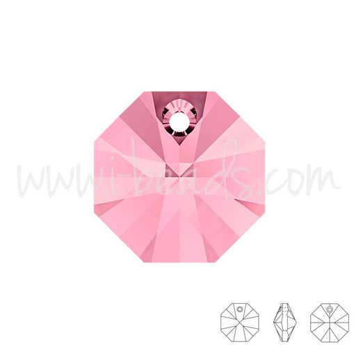 pendentif octogones swarovski light rose 8mm (4) - LaMercerieDesCopines