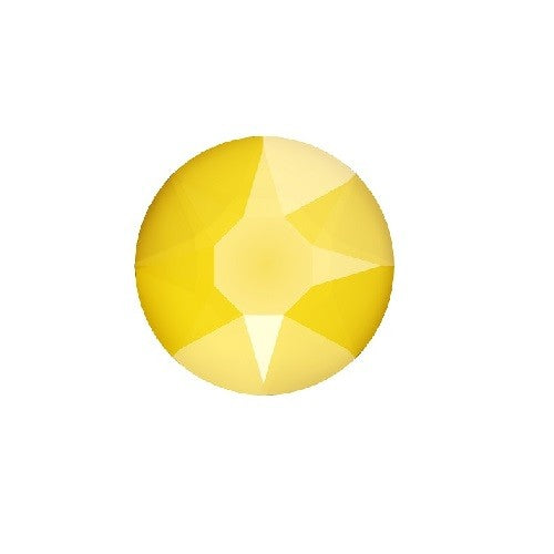 Swarovski 2078 hot fix flat back cristal (jaune) buttercup SS16-4mm (60) - LaMercerieDesCopines