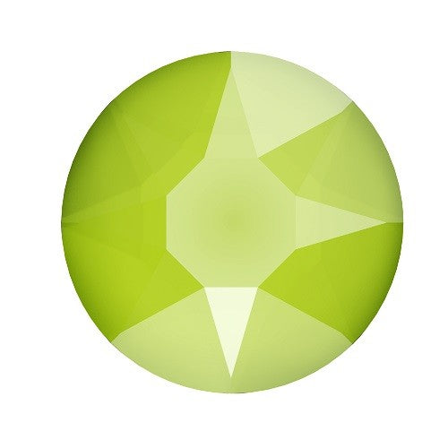 Swarovski 2078 Hot Fix flat back cristal Lime ss34-7.1mm (12) - LaMercerieDesCopines