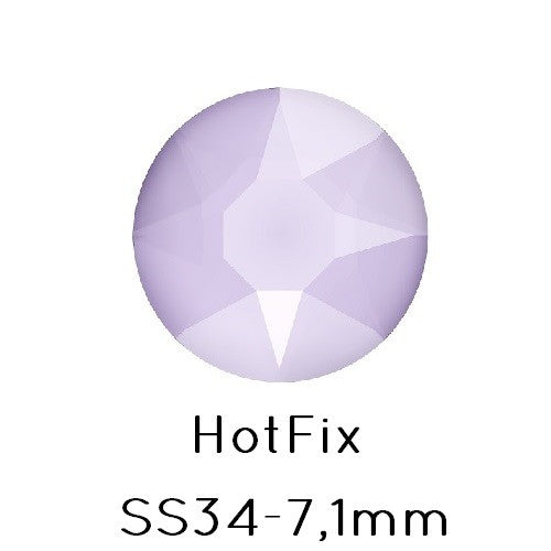 Swarovski 2078 hot fix flat back rhinestones Lilac SS34 -7.1mm (12) - LaMercerieDesCopines