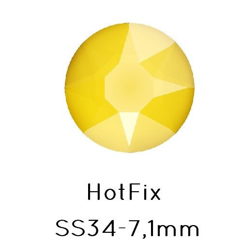 Swarovski 2078 hot fix flat back rhinestones BUTTERCUP SS34 -7.1mm (12) - LaMercerieDesCopines