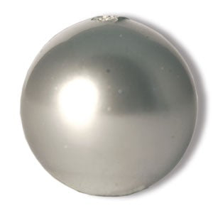 Perles Swarovski 5810 crystal light grey pearl 10mm (10) - LaMercerieDesCopines