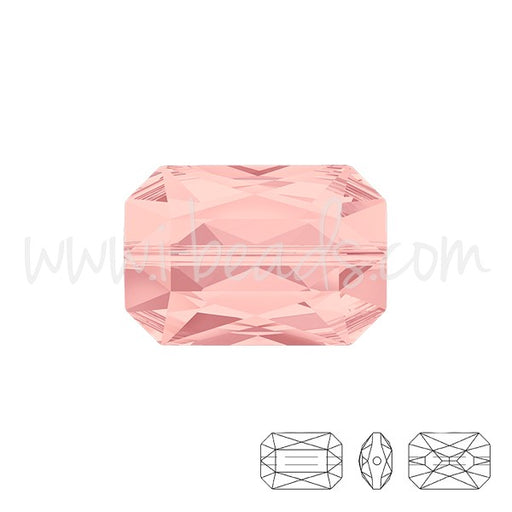 Perle Swarovski 5515 Emerald cut blush rose 14x9.5mm (1) - LaMercerieDesCopines