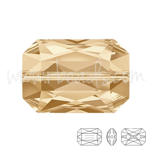 Perle Swarovski 5515 Emerald cut crystal golden shadow 18x12mm (1) - LaMercerieDesCopines
