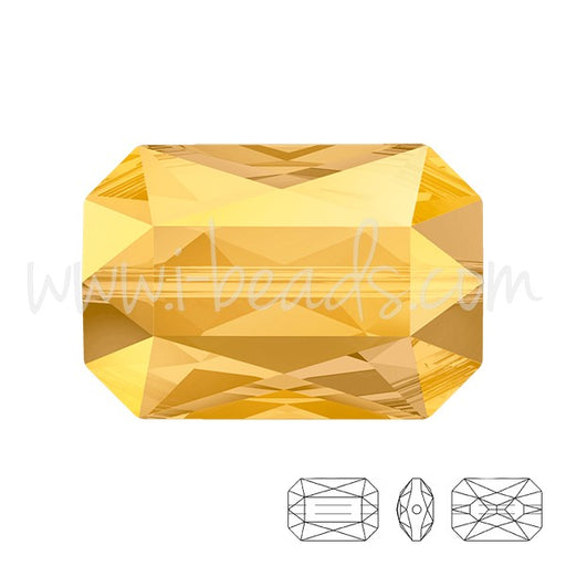 Perle Swarovski 5515 Emerald cut crystal metallic sunshine 18x12mm (1) - LaMercerieDesCopines