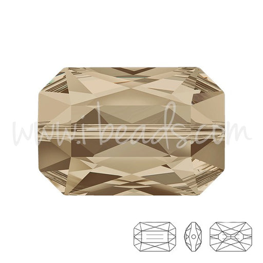 Perle Swarovski 5515 Emerald cut smoky quartz 18x12mm (1) - LaMercerieDesCopines