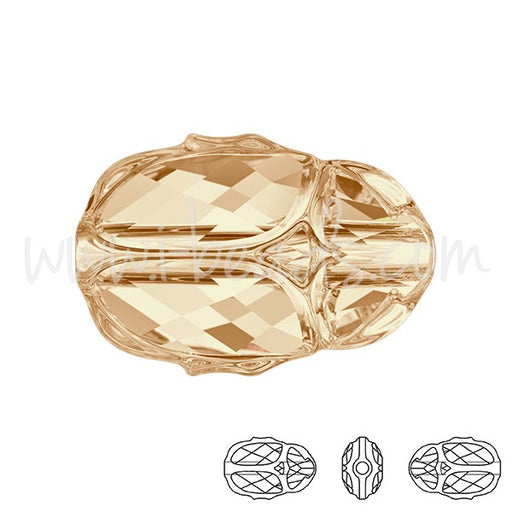 Perle 5728 Swarovski Scarab 12mm crystal golden shadow (1) - LaMercerieDesCopines