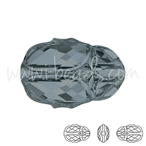 Perle 5728 Swarovski Scarab 12mm crystal silver night (1) - LaMercerieDesCopines