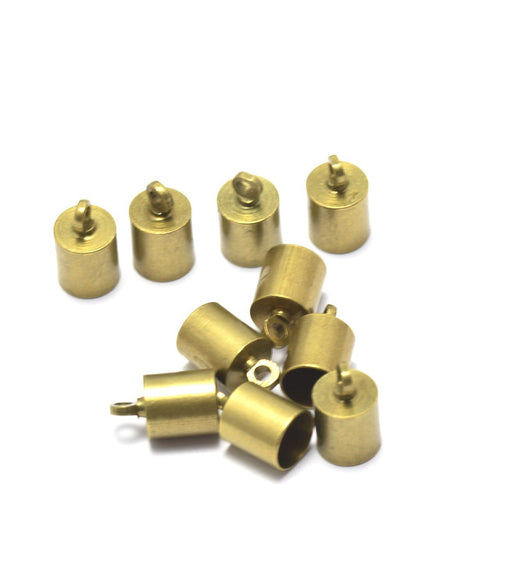 Creez embouts cordon ou pompon x10 bronze clair 10x6x5 mm, Trou: 1.2 mm Lot de 10 embouts cordon