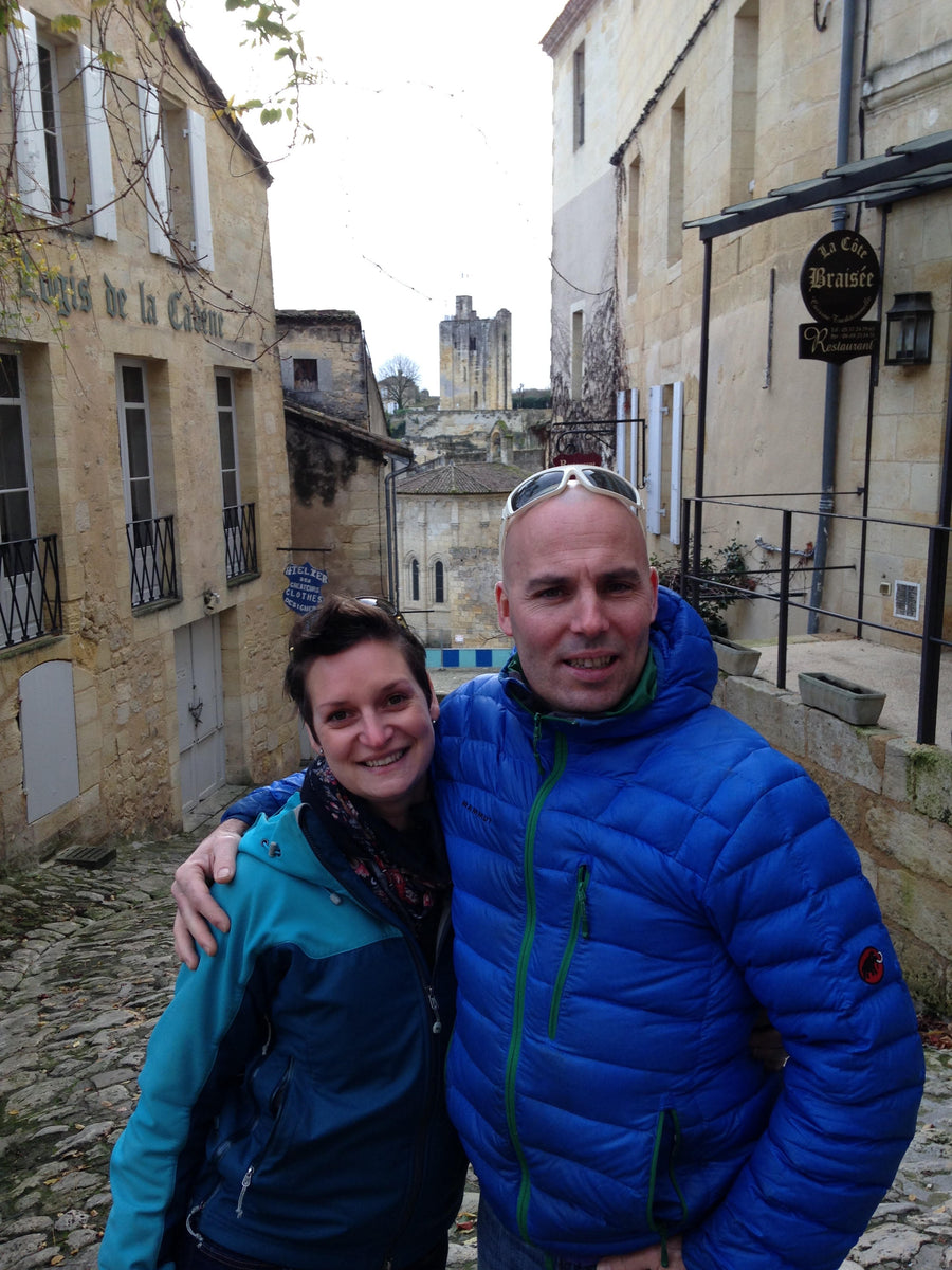 Val & Anthony in St-Emilion, Bordeaux