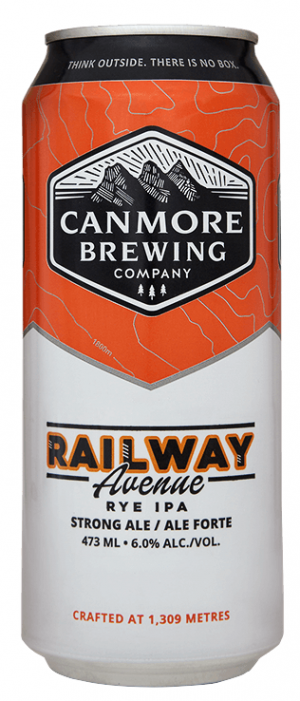 Canmore Brewing Railway Avenue Rye IPA 4 pack