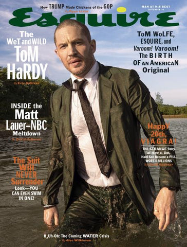 Tom Hardy - mens magazine - Esquire - tent nutrition - mens grooming - mens hair loss